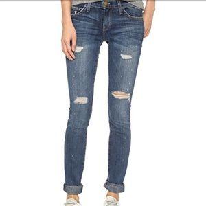 Current/Elliott Distressed Skinny Denim Jeans